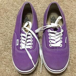 Vans Purple Low Tops Size 7
